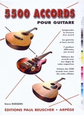 5500 accords pour guitare / Rodgers Steve / Paul Beuscher