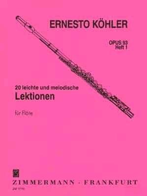 20 leichte & melodische Lektionen op. 93 vol. 1 / Köhler Ernesto / Zimmermann