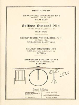 Méthodes Agostini / Solfège syncopé – Volume 1 Batterie / Dante Agostini / Agostini