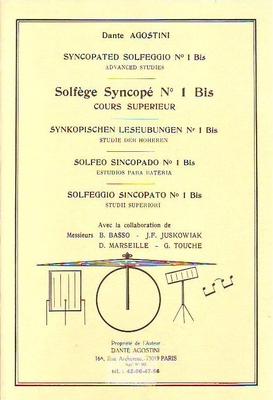 Solfège Syncopé vol. 1bis (cours supérieur)  / Agostini Dante / Agostini