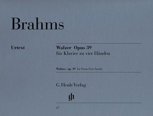 Valses op. 39 version 4 mains Waltzes Op.39 – Piano Duet / Brahms Johannes / Henle