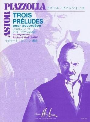 Trois préludes / Piazzolla Astor / Henry Lemoine