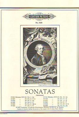 Sonate en mib majeur Hob. XVI:38 / Haydn Joseph / Peters
