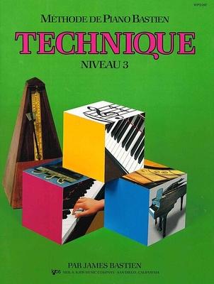 Méthode de Piano Bastien Technique Niveau 3 / Bastien Jane Smisor / Kjos Music Co