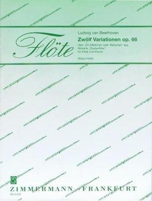 12 variations op. 66 sur »Ein Mädchen oder Weibchen» / Beethoven Ludwig van / Zimmermann