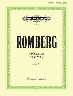 Edition Peters Green Series / Sonates op. 433 Sonaten Opus 43   Romberg  2 Cellos Buch Klassik EP2169 / Romberg Bernhard Heinrich / Peters
