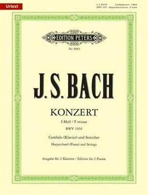 Concerto en fa mineur BWV 1056 / Bach Jean Sébastien / Peters