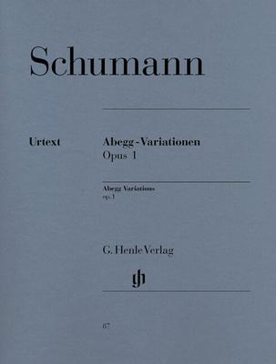Variations Abegg op. 1 Abegg Variations Op.1 / Schumann Robert / Henle