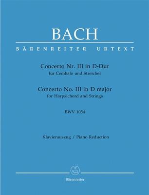 Concerto no 3 en ré majeur BWV 1054 / Bach Jean Sébastien / Bärenreiter
