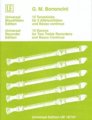 15 Tanzstücke / Bononcini Giovanni Battista / Universal Edition