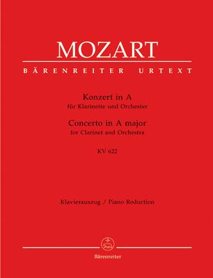 Bärenreiter Urtext / Concerto en la majeur KV 622 Clarinet Concerto In A K.622 / Clarinet and Piano / Wolfgang Amadeus Mozart / Bärenreiter