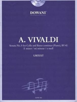 3 Tempi play along / Sonate en mi mineur no 5 RV 40, Violoncelle & BC / Vivaldi Antonio / Dowani