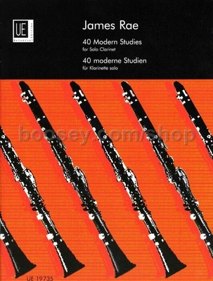 40 modern studies for solo clarinet / Rae James / Universal Edition