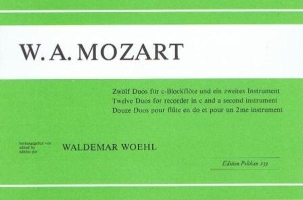 12 duos / Mozart Wolfgang Amadeus / Pelikan