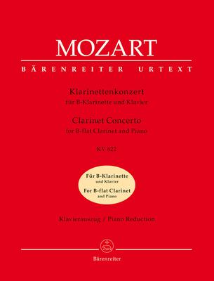 Bärenreiter Urtext / Clarinet Concerto In A K.622 Transposed version into B-flat major for Bb Clarinet & Piano / Wolfgang Amadeus Mozart / Bärenreiter