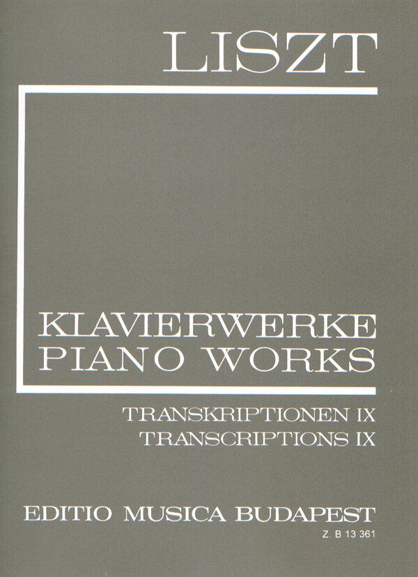 EMB New Listz Edition / Transcriptions IX (II/24) Liederkreis von L. van Beethoven, 24 Stücke für Violine und Klavier von Ferdinand David, etc. / Liszt Franz / EMB Editions Musica Budapest : photo 1