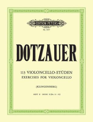 113 Etudes 2  Friedrich Dotzauer  Cello Buch Klassik EP5957 / Dotzauer Justus Johann Friedrich / Peters