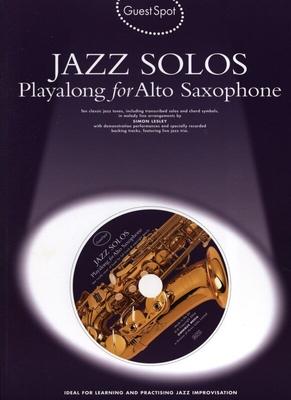 Guest Spot / Guest Spot: Jazz Solos Playalong For Tenor Saxophone / Lesley, Simon (Arranger) / Wise Publications