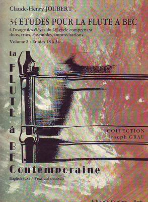 34 études, vol. 2: 18 à 34 / Joubert Claude Henry / Combre