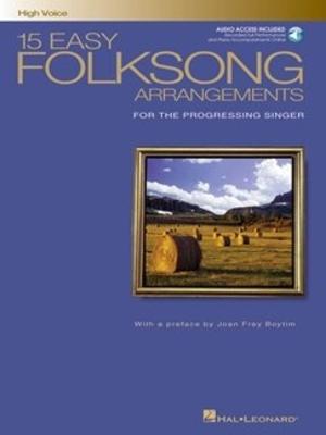 15 Easy Folksong Arrangements For High Voice (Book And CD) / Boytim, Joan Frey (Author) / Hal Leonard