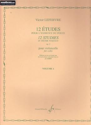 12 études pour l'exercice du pouce, op. 2, vol. 1 / Lefebvre Victor / Billaudot
