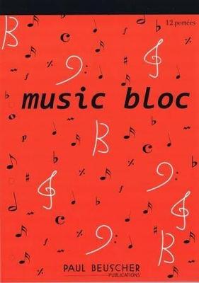 PBB12 Music bloc 12 portées /  / Paul Beuscher