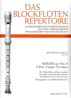 Sonate en fa majeur op. 5 no 4 / Corelli Arcangelo / Moeck