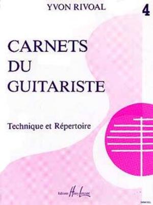 Carnets du guitariste No 4 / Rivoal Yvon / Henry Lemoine