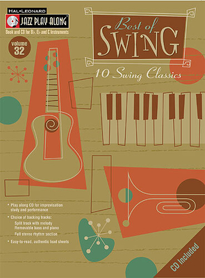 Jazz play along / Jazz Play Along: Volume 32, Best Of Swing / Taylor, Mark (Arranger); Roberts, Jim (Arranger) / Hal Leonard
