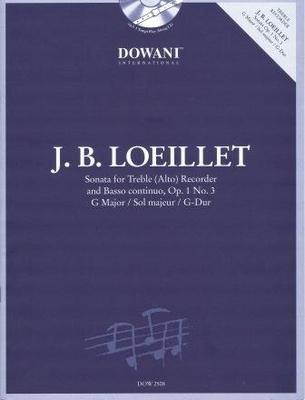 3 Tempi play along / Sonate en sol majeur op. 1 no 3 / Loeillet Jean Baptiste (de Gant) / Dowani