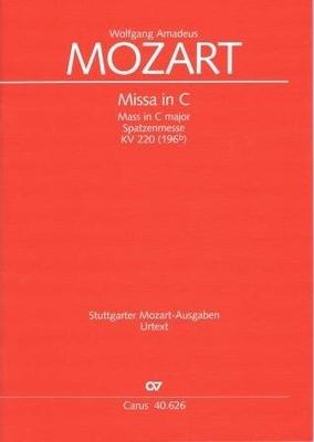 Messe en do majeur KV 220 (196b) 'Spatzenmesse' / Mozart Wolfgang Amadeus / Carus