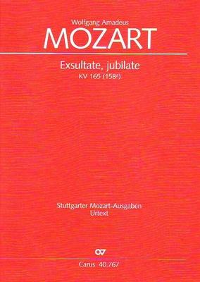 Exsultate, jubilate KV 165 (158a) / Mozart Wolfgang Amadeus / Carus