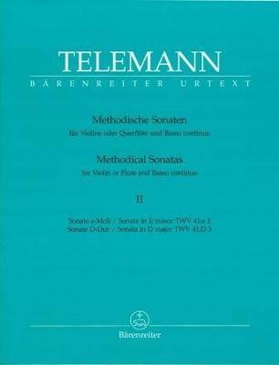 2 sonates méthodiques TWV 41, vol. 2 / Telemann Georg Philip / Bärenreiter