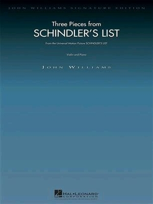 John Williams: Three Pieces From Schindler's List (Violin/Piano) / Williams (Composer), John (Composer); Williams, John (Composer) / Wise Publications
