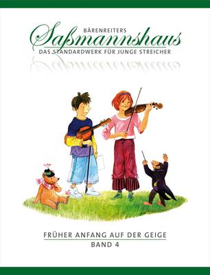 Bärenreiter's Sassmannshaus / Früher Anfang auf der Geige, Band 4 Eine Violinschule für Kinder   Violin Buch  BA9674 / Sassmannshaus Egon / Bärenreiter