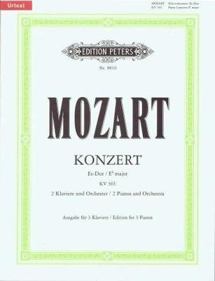 Concerto en mib majeur no 10 KV 365 / Wolfgang Amadeus Mozart / Peters