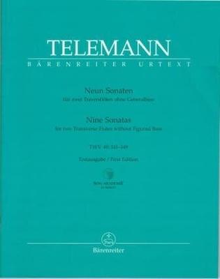 Bärenreiter Urtext / 9 sonates TWV 40:141-149 for two Flutes without Bass / Georg Philipp Telemann / Bärenreiter
