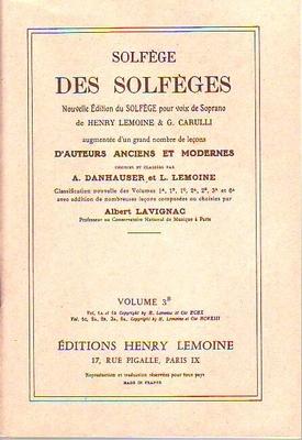Solfège des solfèges, vol. 3B / Danhauser A./ Lemoine L. / Henry Lemoine