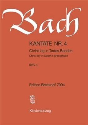 Cantate BWV 4 'Christ lag in Todes Banden' / Bach Jean Sébastien / Breitkopf