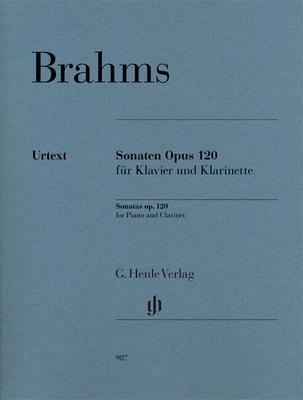 Henle Urtext Editions / Sonates op. 120Clarinet Sonatas Op. 120 (Clarinet in B Flat) Sonatas op.120 for Clarinet and PianoEdition révisée remplace HN 274 / Brahms Johannes / Henle