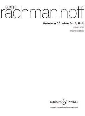 Prélude op. 3 no 2Prelude In C Sharp Minor Op.3 No.2 / Sergei Rachmaninov / Boosey & Hawkes