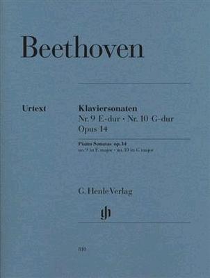 Sonate nos 9 & 10, mi majeur & sol majeur, op. 14 no 1 & 2 / Beethoven Ludwig van / Henle
