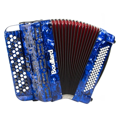 A. Boullard 482C 4 rangs, 2/4 voix, 80 basses. bleu