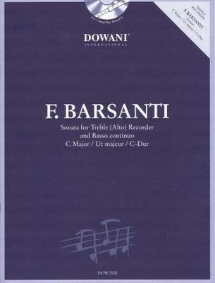 3 Tempi play along / Sonate en do majeur / Barsanti Francesco / Dowani