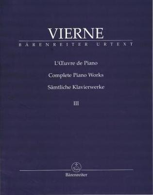 L'oeuvre de piano, vol. 3 / Vierne Louis / Bärenreiter