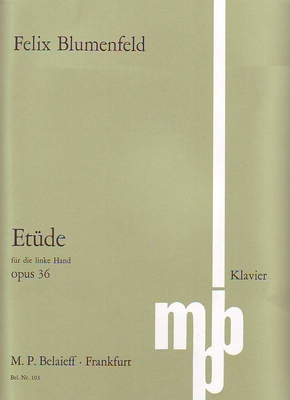 Etude pour la main gauche op. 36Etüde As-Dur op. 36 für die linke Hand / Blumenfeld Felix / Belaieff