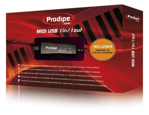 Prodipe 1/1O Midi USB Interface 1 In 1 Out Mac & PC