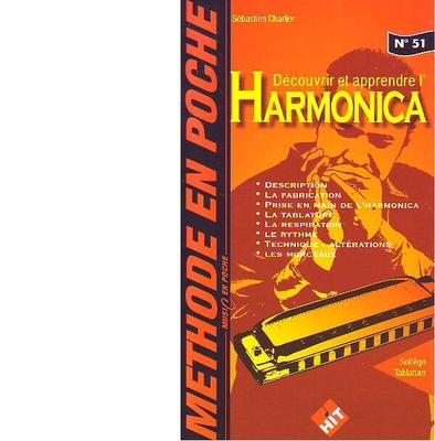 Méthode en poche / Découvrir et apprendre l'harmonica / Charlier Sébastien / Hit Diffusion
