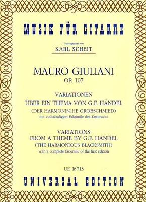 Variations sur un thème de Händel / Giuliani Mauro / Universal Edition