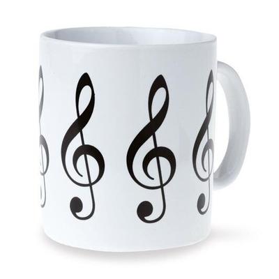 Vienna World Tasse blanche avec clés de solTreble Clef Mug – White White    Küche  K 173
